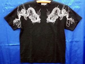 カラクリ 半袖Tシャツ つなぎ龍刺繍 KARAKURI