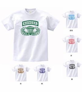デザイン Tシャツ アーミー RANGER 白 MLサイズ