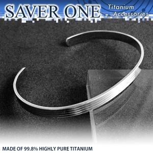 31%OFF! スリーライン 純チタンバングル SAVER ONE(セイバーワン) /メンズ ブレスレット 腕輪 チタンアクセサリー チタニウム