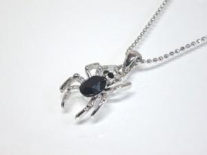 スパイダーネックレス・メール便(ゆうパケット)なら送料無料・Rock・パンク・蜘蛛・クモ・ロック・バンギャ・N-1527-1