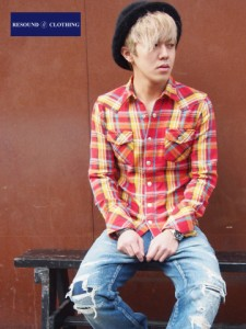James OLD CHECK shirt  /RESOUND CLOTHING/リサウンドクロージング/