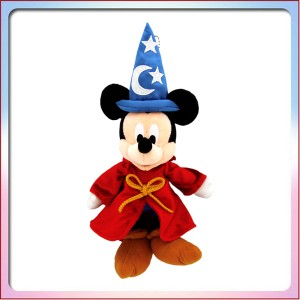 ミッキーの家と ミートミッキー ぬいぐるみバッジ (青 三角帽子) ミッキー マウス ディズニー ぬいば ファンタジア ( ランド限定 )