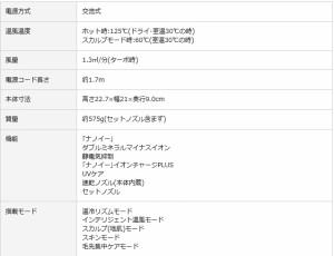 Panasonic  ヘアードライヤー ナノケア EH-NA99 ルージュピンク(RP) ピンクゴールド(PN) 白(W)
