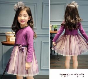 超可愛い 秋新作 ワンピース キッズ服 子供服 女の子  キッズ ベビー   110~160cm プリンセス ボンボンスカート