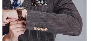 秋冬新作 メンズスーツ 4点セット ビジネススーツ 韓国風 スリムス 4ピーススーツ メンズセットアップ  ストライプ 結婚式 二次会 面接