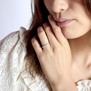 ハーフエタニティ エタニティ ゴージャス 5ストーン 5石 ダイヤモンド リング 指輪 18金 K18 ゴールド K18WG 【送料無料】