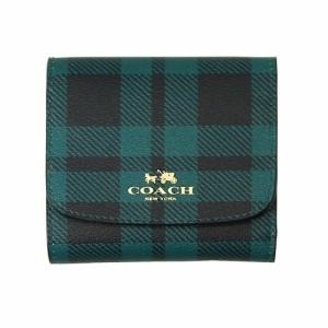 コーチ COACH 三つ折り財布 F55934 タータンチェック レイルウェイ プレイド スモール ウォレット アウトレット