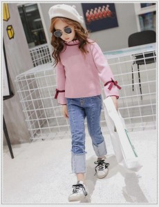 秋着 ニット バットシャツセーター ダメージデザインカットソー 子供服 長袖 セーター 子供 ニット トップス ニット 女の子