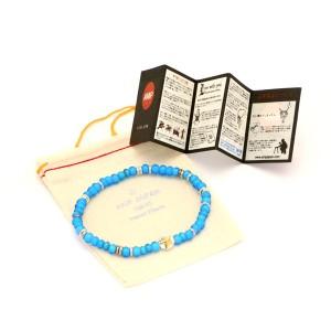 【送料無料】amp japan アンプジャパン アンプ ホワイトハーツ ビーズ ブレスレット ブルー 青 スター メンズ プレゼント 16AHK-445BL