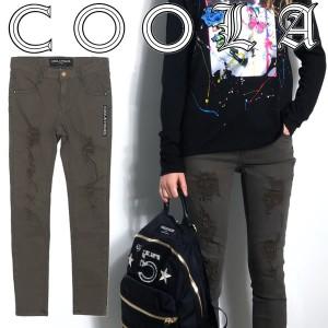 COOLA クーラ Backローズレースクラッシュスキニーパンツ 【2018S/S】【入荷】(cq-30022) 【パンツ】【ダメージ】