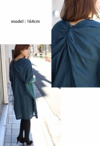 超BIGサイズ☆異素材MIXニットソーワイドドルマンワンピース チュニック/大きいサイズ/レディース冬 新作【予約】71545NT