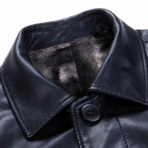 送料無料 レザーコート ロングコート バイクジャケット 春秋冬 メンズ PU革ジャン バイク 革ジャケット バイク用品  シングル