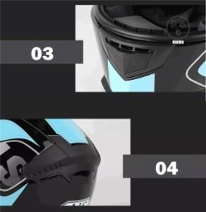 バイクヘルメット フルフェイスヘルメット 男女共用ヘルメット バイク用 ヘルメット 春 夏 秋 冬 PSC付き【送料無料】AIS-605