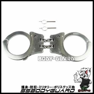 【手錠】ステンレスカフ ダブルチェーン ダブルロック シルバー