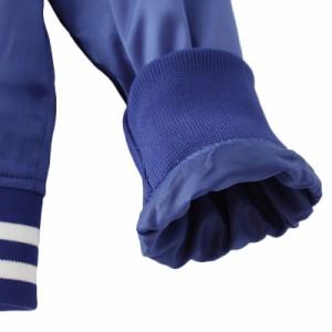 レディース ボンバー ジャケット アウター スカジャン スタジャン コート 長袖 ボタン ポケット カジュアル 青