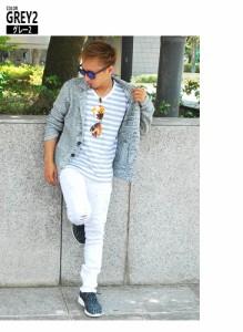 テーラードジャケット ジャケット メンズ ニット スラブ ミックス 無地 杢 白 ホワイト 黒 ブラック【福袋B】