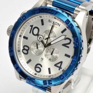 ニクソン NIXON 51-30 CHRONO P クオーツ クロノグラフ メンズ 腕時計 A083 Blue Silver ブルー シルバー 並行輸入品 【送料無料】