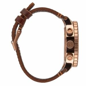 ニクソン NIXON 腕時計 48-20 A3632001 ガンメタルダイアル×ブラウンレザーベルト 並行輸入品 【送料無料】