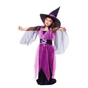 2点以上送料無料 キッズコスプレ 魔女 ハロウィン衣装 キッズ 女の子 子供 コスプレ コスチューム cos cos-k wsc-170724-701