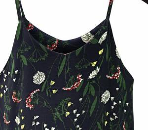 花柄 サロペットスカート ワンピース レディースワンピース ミモレ丈 レースワンピース シフォン 大きいサイズ