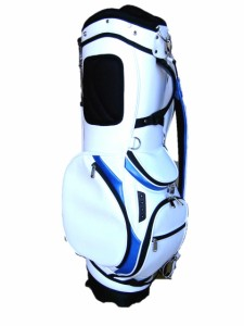 スタンド式 オリジナル キャディバッグ  (ホワイト/ブルー)
