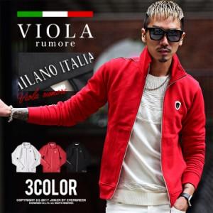 VIOLA rumore ヴィオラ ジャケット 長袖 ジップ メンズ レッド ブラック ホワイト 赤 白 黒 秋 冬 メンズファッション ビオラ trend_d