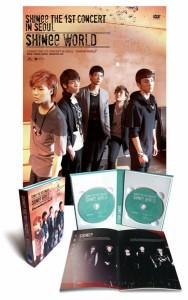 韓国音楽 SHINee(シャイニー)の「Shinee The 1st Concert:Shinee World」DVD(2DISC+スペシャルカラーフォトブック)+ポスター筒