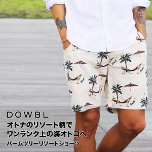 DOWBL/ダブル/パームツリーリゾートショーツ【全3色】
