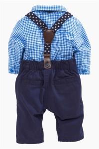 送料無料 キッズ ベビー服 男の子 フォーマル シャツ ズボン  2点洋服セット タキシード風  70/80/90/95
