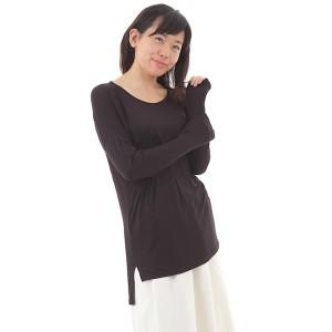 シャツ ブラウス カットソー レディース 女性 Tシャツ チュニック ゆったり 春 夏 秋冬 長袖 シンプルトップス