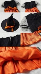 【即納】サンタコスプレ 【送料無料】子供ドレス ワンピース Halloween コスプレ衣装 魔女 子供 可愛い 小悪魔 パーティー 仮装 変装