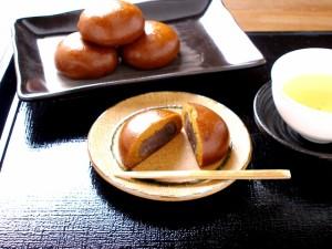 【霧の森】モチモチ黒糖生地の温泉饅頭★馬立本陣★8個入