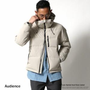 ダウンジャケット メンズ アルピニスト ボリュームネック Audience オーディエンス 防寒 フード 6146 【pre_d】