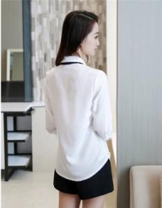 就活 通勤 シャツブラウス ビジネス スーツ インナー 事務服 クールビズ  オフィス フォーマル  スーツインナー Yシャツ WUO111