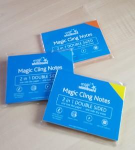 ホワイトボード マジックホワイトボードMagic Cling Notes メモ帳  マンダリンオレンジ