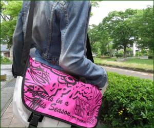 【送料無料★1,000円】SSBプリントメッセンジャーバッグ★ピンク