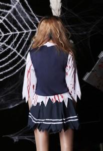 ハロウィン衣装コスプレゾンビ コスチュームセーラー風吸血鬼風ゾンビ制服柄衣装バンパイア恐怖血まみれヴァンパイア風