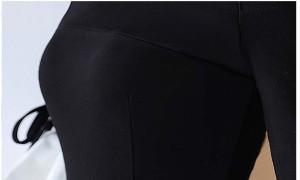89c6620b39743 オフショルダ― パーティードレス タイトスカート ロング丈 SMLXLXXL スリット フリル リボン 半袖 5分丈 ブラック ホワイト 白 黒