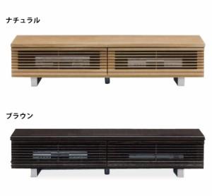 幅150cm国産ローボード フラップ式ソフトダウンステー仕様テレビ台 TVボード ナチュラル・ダークブラウン 高さ27cm+8cm脚付き