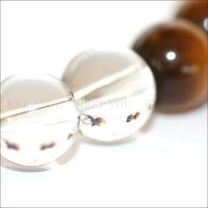 【メール便 送料無料】 天然石 ブレスレット タイガーアイ*水晶 8mm玉 MIX2*2 【虎目石*クリスタルクォーツ 8ミリ数珠】 ┃
