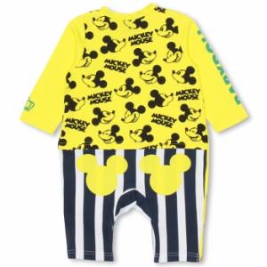 FW_SALE30%OFF ディズニー ストライプ切替コーデ風長袖ロンパース-ベビーサイズ ベビードール 子供服/DISNEY-9747B
