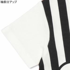 人気スタッフデザイン_親子ペア ストライプボーダー Tシャツ ベビーサイズ キッズ ベビードール 子供服 -9320K