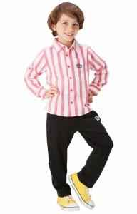 NEW♪親子ペア★2WAYロールアップロングパンツ-ベビーサイズ キッズ ベビードール 子供服-9799K