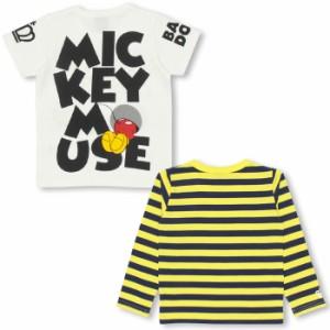 11/17〜FW_SALE30%OFF 親子ペア ディズニー 重ね着ロンT&Tシャツ/2点セット-ベビーサイズ キッズ ベビードール 子供服/DISNEY-9459K
