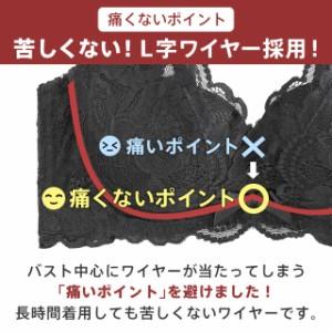 【送料無料】ブラジャー 自胸で谷間復活! カシュクールレース 脇高 単品ブラジャー 603713 (エメフィール)