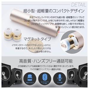 ワイヤレスイヤホン Bluetooth BI9318【3183】 Beat-in Stick 4.1対応 両耳 高音質 スペースグレー ロア・インターナショナル