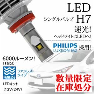 送料無料 ディアマンテ H7 LEDフォグランプ H7 LEDヘッドライト LUXEON MZチップ 6000LM ファンレス