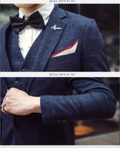 大人気 メンズ格好いいスーツ/結婚式/二次会/披露宴/ビジネススーツ(3点セット)セットアップスーツ/メンズフォーマルスーツ