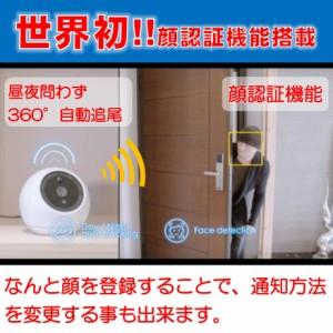 防犯カメラ ATOM ワイヤレス 360°自動追尾 スマホで見守り ペットベビーカメラ 監視カメラ【送料無料(沖縄・離島除く)】
