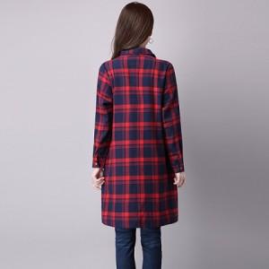 【半額】チェックシャツワンピースt1772